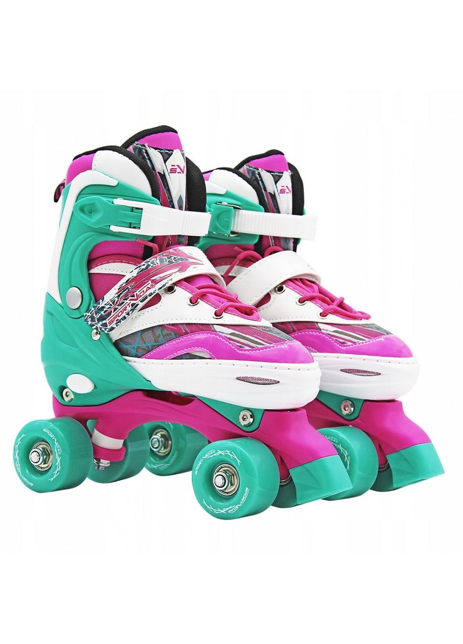 Роликовые коньки (квады) SportVida SV-LG0040 Size 35-38 Pink/Green