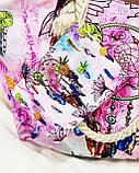 Пляжна сумка на блискавці з принтом Ловець снів , плетеними ручками - канатами і гаманцем в подарунок, фото 2