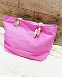 Пляжна сумка на блискавці з принтом Ловець снів , плетеними ручками - канатами і гаманцем в подарунок, фото 3