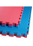 Мат-пазл (ластівчин хвіст) 4FIZJO Mat Puzzle EVA 100 x 100 x 4 см 4FJ0169 Blue/Red, фото 1
