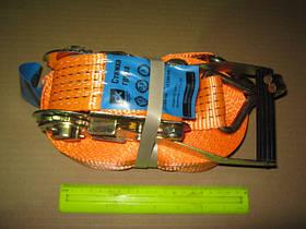 Стяжка вантажу, 3t. 50mm.x14m.(0.5+13.5) пластикова ручка (арт. DK-3918)
