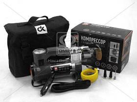 Компрессор, 12V, 7Атм, 30л/мин, фонарь, прикуриватель, кабель 3м, шланг 1м, (арт. DK31-001A)