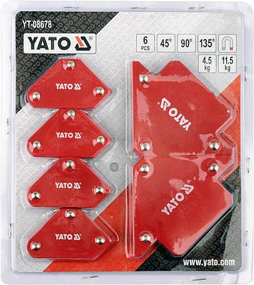 Набір зварювальних магнітних куточків YATO YT-08678, фото 2