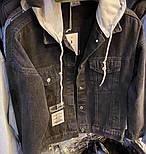 Куртка джинсовая женская с трикотажным капюшоном (белый, розовый, желтый капюшон), фото 10