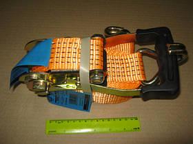 Стяжка вантажу, 3t. 50mm.x6m.(0.5+5.5) прорезин. ручка (арт. DK-3902)