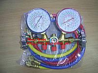 Манометрический коллектор R-134, 22, 404, 12 со шлангами (90см.) в комплекте