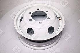 Диск колесный 16H2х5,5J ГАЗ 3302, IVECO белый (круглые отверстий ) (арт. 3302-3101015-06)