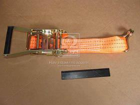 Стяжка груза 3t (трещотка пластик. ручка, лента 50mm.x0.5m., крюк) (арт. DK-3945)