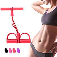 Тренажер для фитнеса Pull reducer, Красный тренажер для качания спины Tension rope (еспандер для спини) (TI)