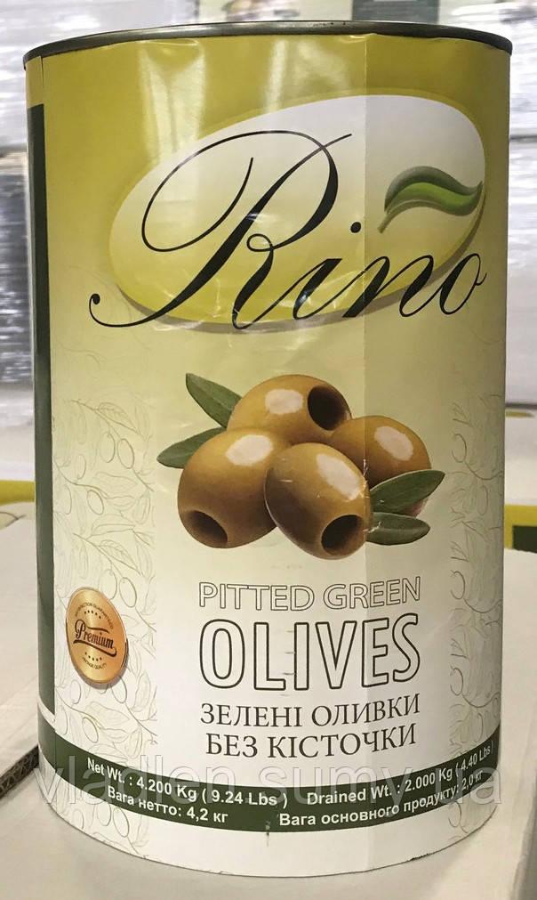 Оливки зеленые без косточки высший сорт! 4,2 кг TM Rino (Египет)