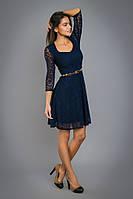 Гипюровое платье с декольте