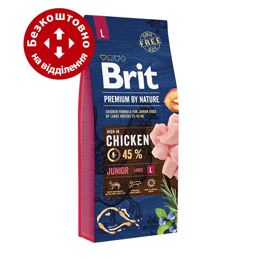Brit Premium Junior L 15кг корм для щенков крупных пород