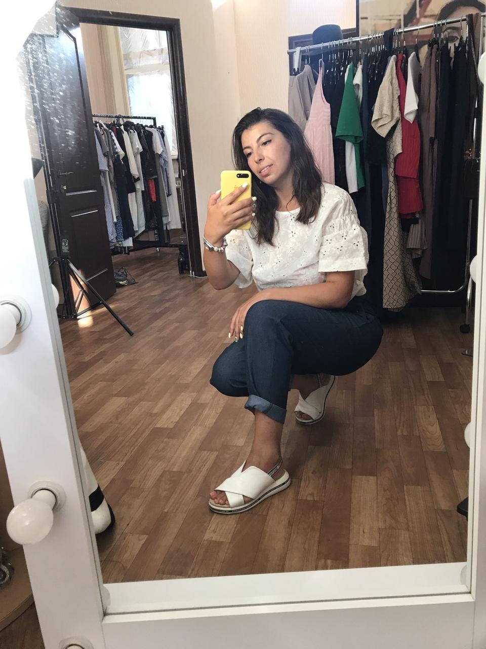 Женская блузка белая с прошвы Solh ЛИНК