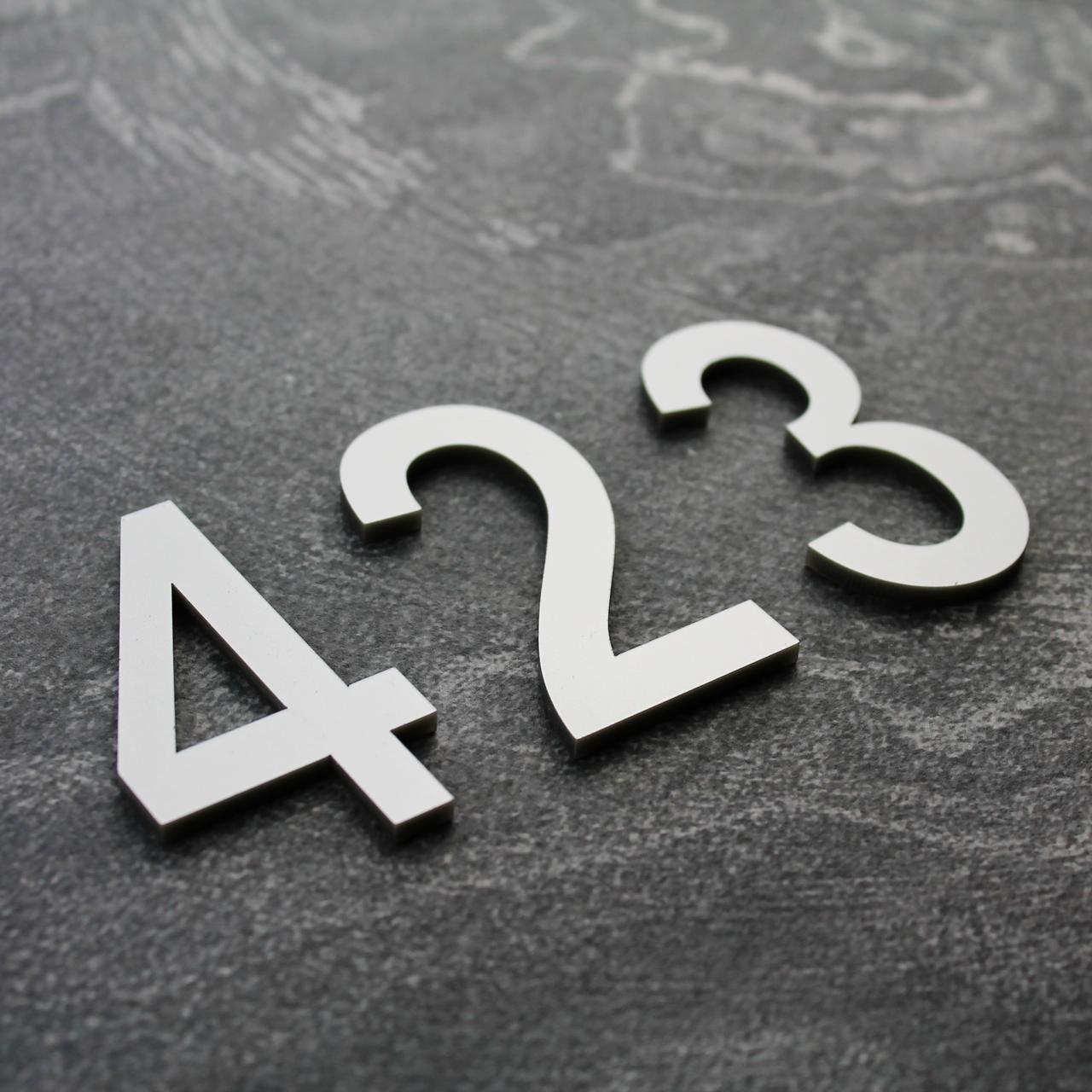 Цифри на двері срібло