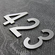 Цифри на двері срібло, фото 3