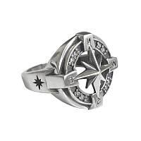 Серебряное кольцо Роза ветров.