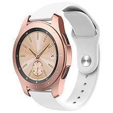 Ремінець BeWatch силіконовий для Samsung Galaxy Watch 42 мм Білий (1010302.2)