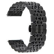 Ремешок BeWatch classic стальной Link шириной 22 мм Black (1021401.9)