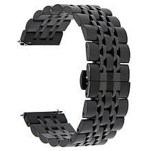 Ремінець BeWatch classic сталевий Link шириною 22 мм Black (1021401.9)