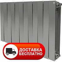Радиатор биметалл серый Royal Thermo PianoForte 500/Silver Satin 12 сек