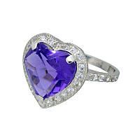 """Серебряное кольцо с аметистом """"Сердце океана"""""""