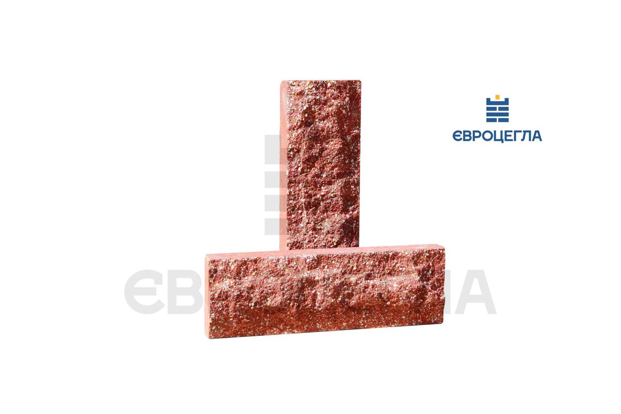Фасадная плитка красная, размер 200х65х20мм