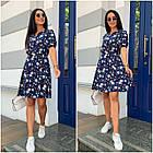 Платье летнее NOBILITAS 42 - 52 синий лиловый штапель (арт. 21028), фото 5