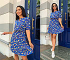Платье летнее NOBILITAS 42 - 52 синий лиловый штапель (арт. 21028), фото 8