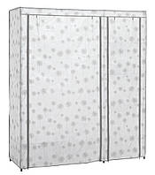 Шкаф-гардероб 149х50х174см бел/сер