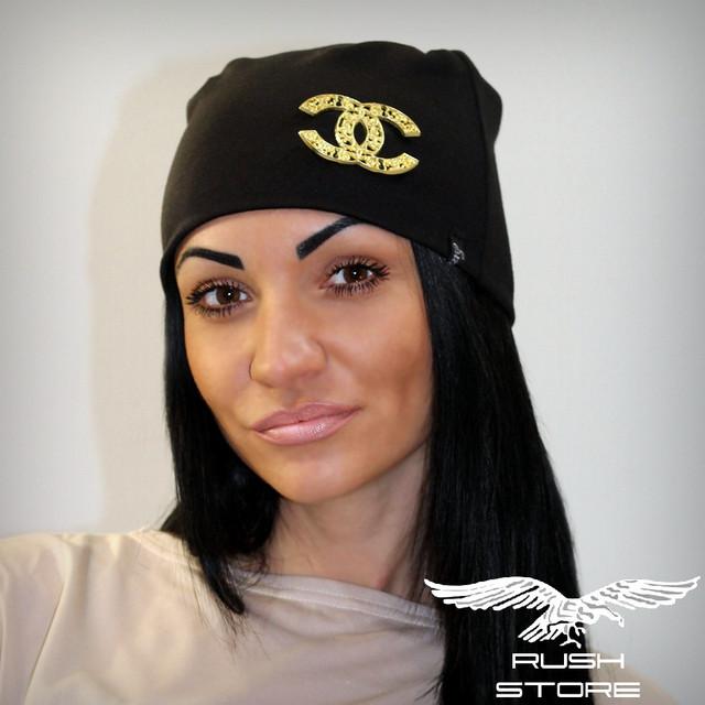 Купить черную женскую шапку