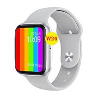 Розумні годинник IWO W26 з датчиком пульсу і тиску білі, фото 1