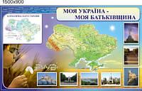 Климатическая карта Украины. Стенд для кабинета географии