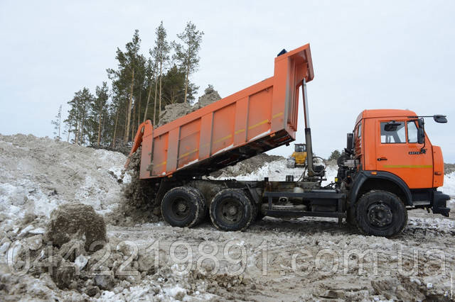 Вывоз снега самосвалом КамАЗ