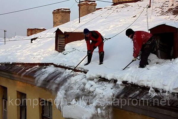 Очищення покрівлі від снігу