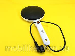Млинниця заглибна електрична 20 см, електро сковорода для млинців з антипригарним покриттям Sinbo 650Вт