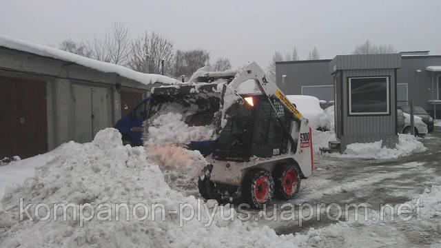 Послуги міні навантажувача для прибирання снігу