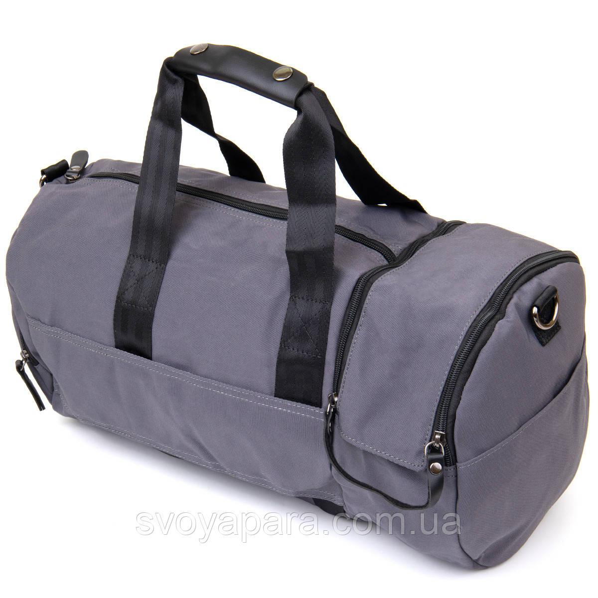 Спортивна сумка текстильна Vintage 20641 Сіра