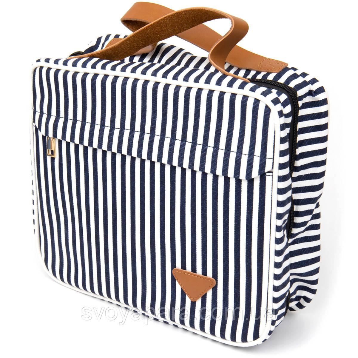 Сумка органайзер для подорожей текстильна Vintage 20651 Біла