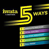 Аэрографы Iwata. 5 Ways to Spray.