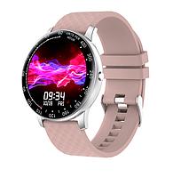 Женские смарт-часы H30 с Bluetooth и большим сенсорным экраном розовые