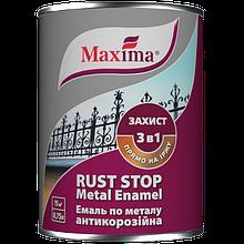 Эмаль Maxima антикороз. по металлу гладкая темно-серая 0,75 л