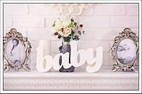 Слово baby №1 (длина 40см.) заготовка для декора