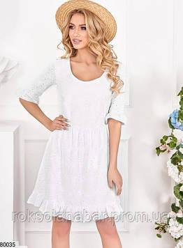 Белое хлопковое платье мини с открытой спиной