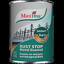 Эмаль Maxima антикорроз.по металлу 3в1, графитная, черная 0,75 л