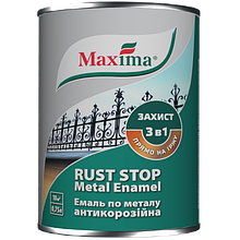Эмаль Maxima антикорроз.по металлу, молотковая, антрацит 0,75 л