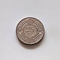 25 центов Нидерландские Антильские острова 1998 г., фото 1