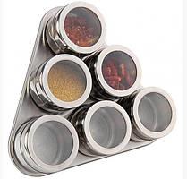Емкости для специйна магнитной подставке7 предметов Spice Carousel KIT-6 стальной