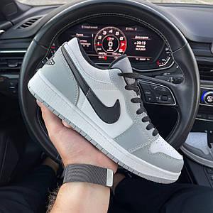Мужские кроссовки Nike Air Jordan Low серый с черным