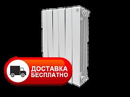 Радіатор біметалічний білий Royal Thermo PianoForte 500/Bianco Traffico 8 секцій