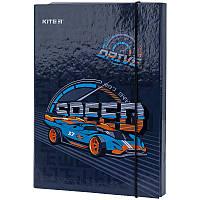 Папка для зошитів В5 на гумці картон, Kite, Off-road
